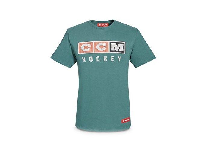 ccm triko vintage logo dark lichen
