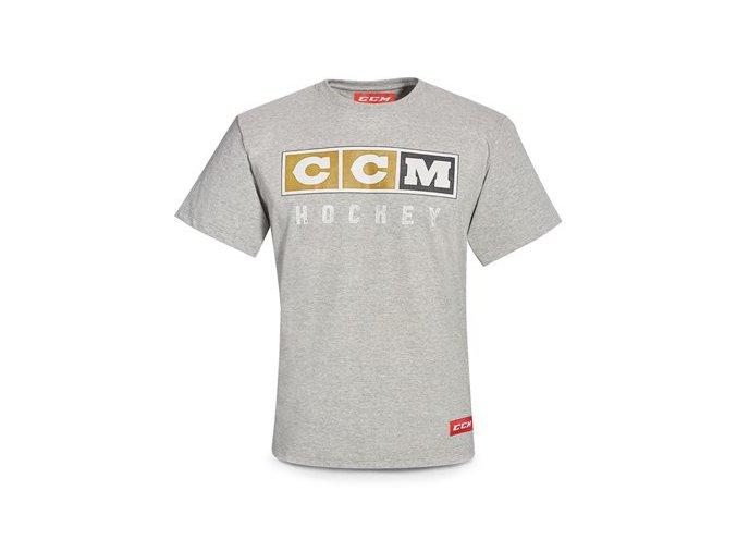 ccm triko vintage logo grey