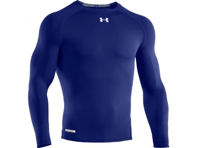 Ribano - Triko Under Armour HeatGear Sonic Compression L/S Senior Royal