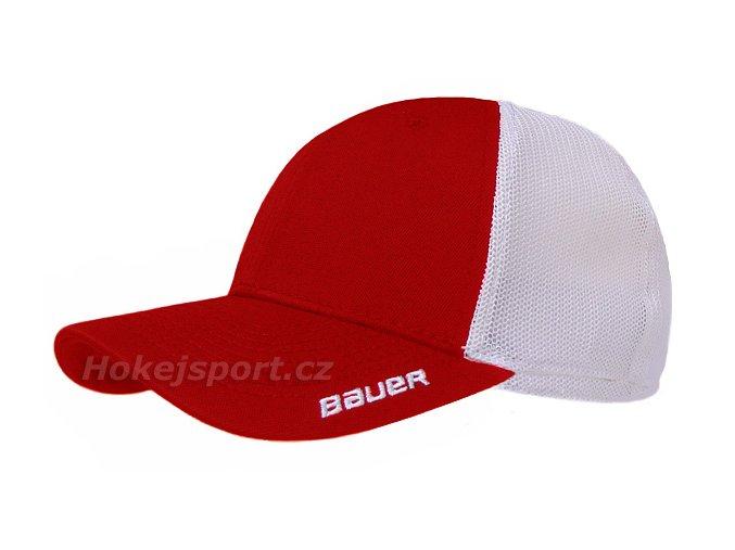 Kšiltovka Bauer New Era 39Thirty® Team Stretch Mesh Back Cap Red