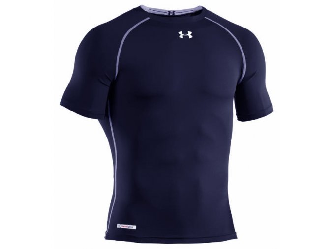 Ribano - Triko Under Armour HeatGear Sonic Compression S/S Senior Navy