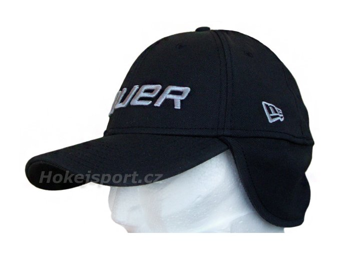 Kšiltovka Bauer New Era 39Thirty® Cap With Ear Flaps Black