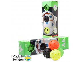 salming aero plus ball 4 pack colour