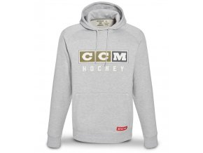 ccm mikina classic logo hoody sil 1