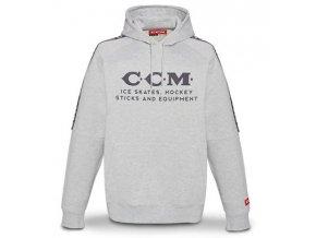 ccm mikina heritage logo hooded grey 1