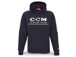 ccm mikina heritage logo hooded nightfall 1