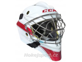 ccm goalie mask axis 1 5 wht red 0