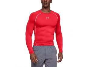 Ribano - Triko Under Armour HeatGear Sonic Compression L/S Senior Red