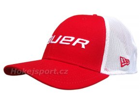 Kšiltovka Bauer New Era 39Thirty® Mesh Back Cap Red
