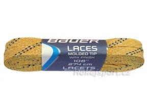 Tkaničky Bauer voskované žluté