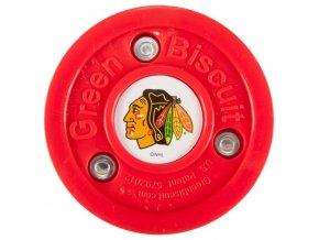 Tréninkový off-ice puk Green Biscuit NHL Chicago Black Hawks