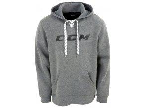 ccm mikina logo hoody grey