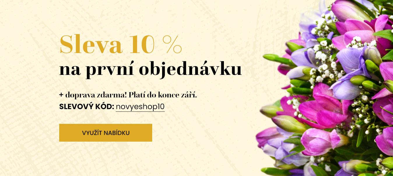 Banner - květiny - slevový kód
