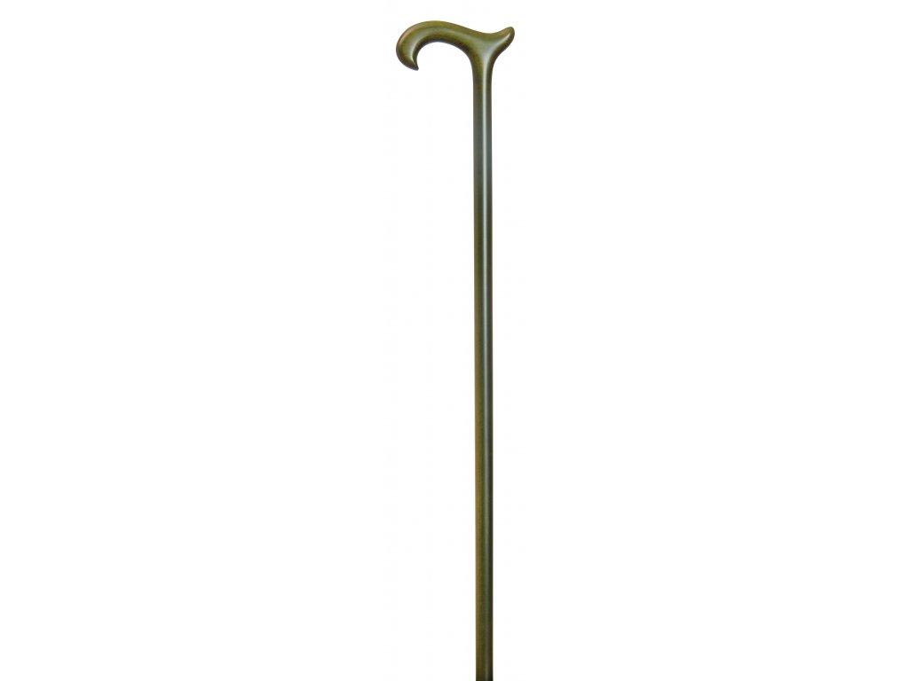 Vycházková hůl dřevěná /3248 - zelená