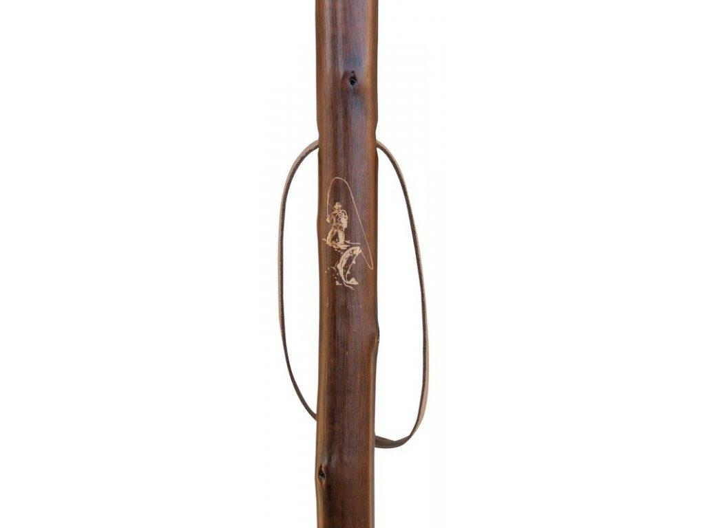 Vycházková hůl dřevěná/1792 Country pro milovníky rybaření
