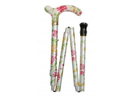 Hůl skládací/4616I Creme Floral