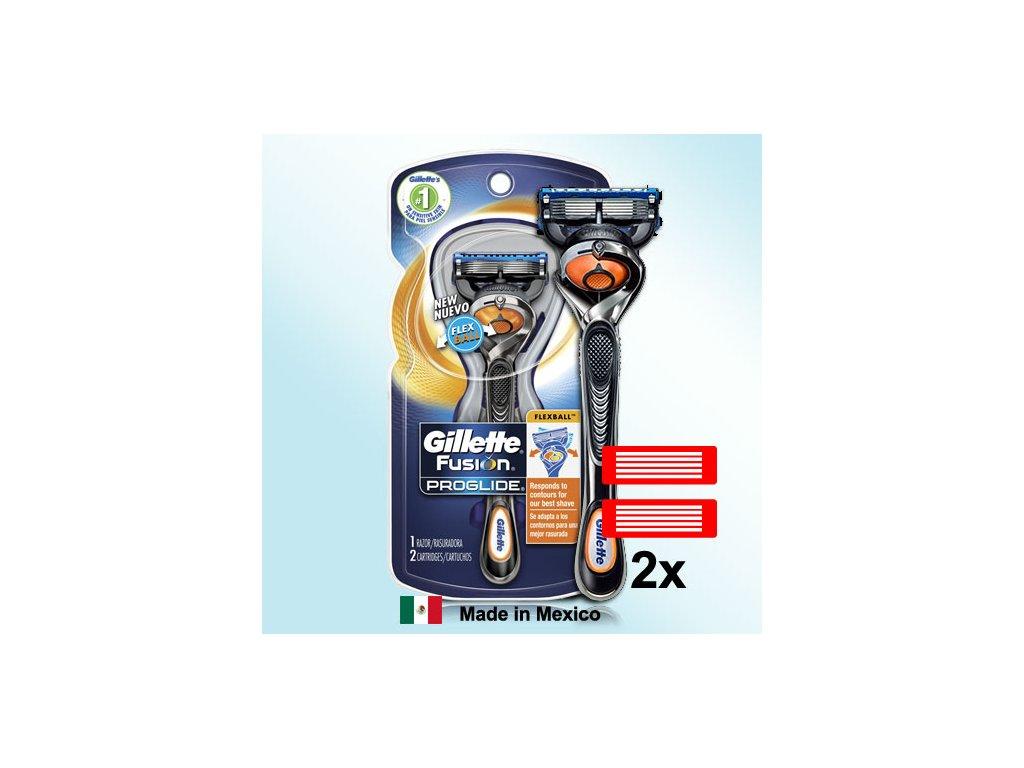 Gillette Fusion Proglide FLEXBALL holicí strojek náhradní hlavice 2 ks  ® ⚡️- DOVOZ Z USA ✅✅✅