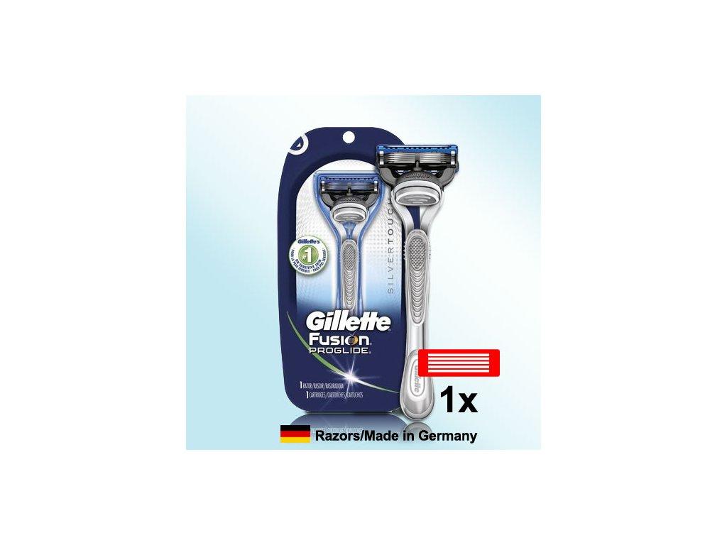 Gillette FUSION PROGLIDE POWER Silvertouch strojek + 1ks hlavice  ® ⚡️- DOVOZ Z USA ✅✅✅