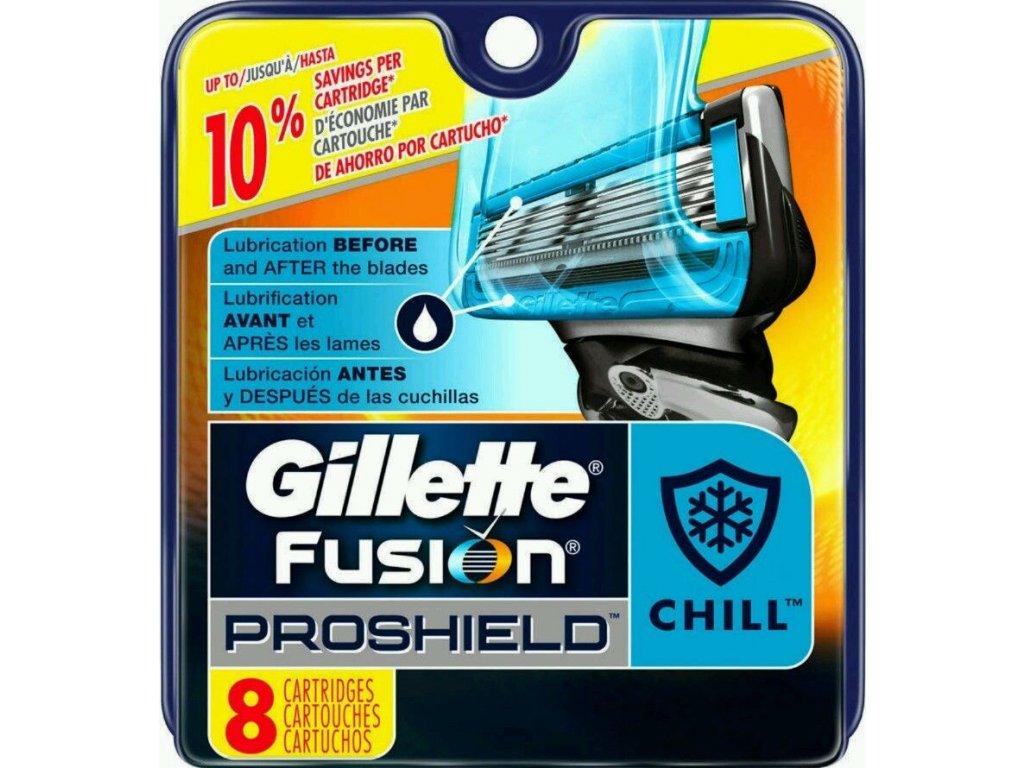 GILLETTE FUSION PROGLIDE PROSHIELD CHILL náhradní hlavice (8 kusy)