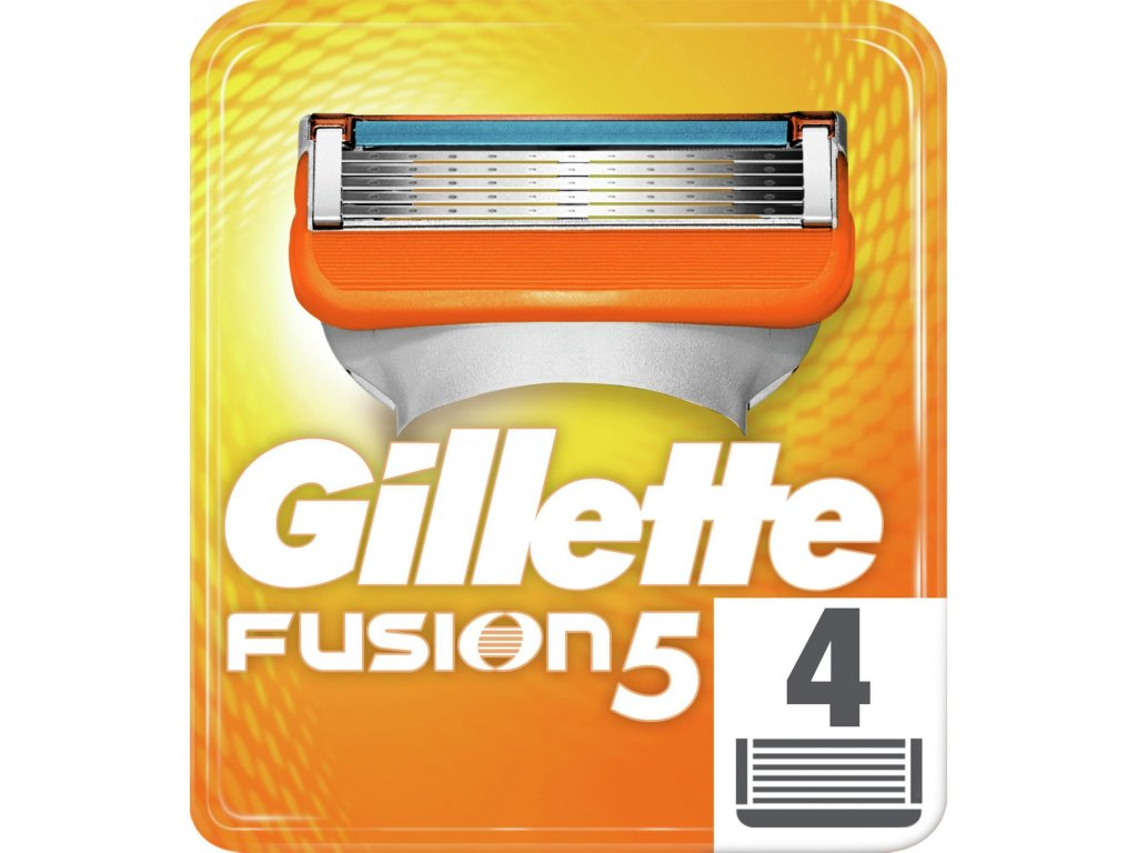 GILLETTE Fusion5 žiletky náhradní hlavice (4 ks v balení)  ® ⚡️- DOVOZ Z USA ✅✅✅