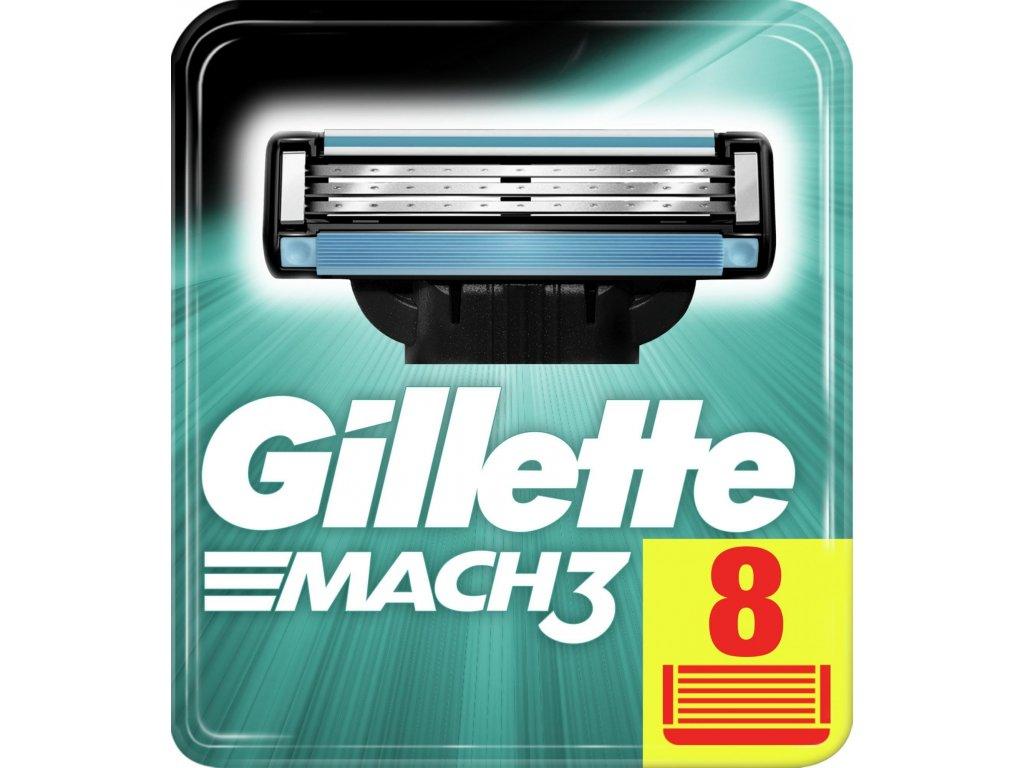 GILLETTE MACH3 náhradní pánské žiletky hlavice 8 ks