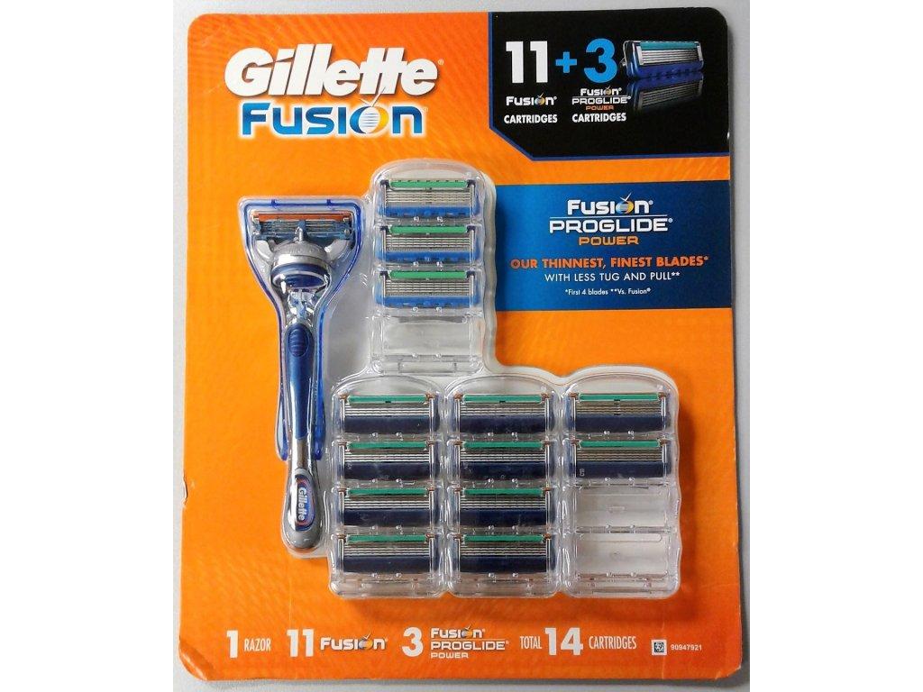 GILLETTE FUSION PROGLIDE 14 PACK náhradní hlavice - poškozený obal (14 kusů)