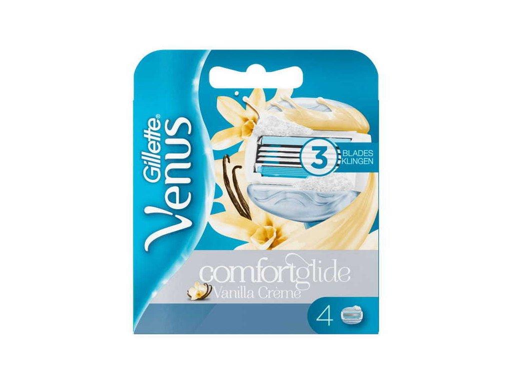 Venus Comfort Glide Vanilla Creme Blades x4 755881