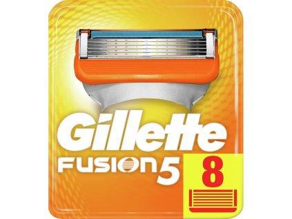 GILLETTE FUSION 5 náhradní žiletky hlavice (8 kusů v balení)