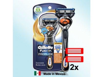 Gillette Fusion Proglide FLEXBALL holicí strojek náhradní hlavice 2 ks
