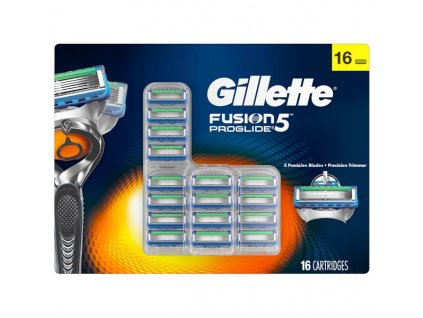GILLETTE FUSION PROGLIDE MEGA PACK žiletky náhradní hlavice (16 kusů)  ® ⚡️- DOVOZ Z USA ✅✅✅