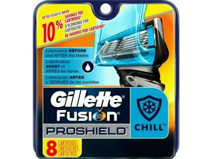 GILLETTE FUSION PROGLIDE PROSHIELD CHILL náhradní hlavice (8 kusy)  ® - DOVOZ Z USA ✅✅✅