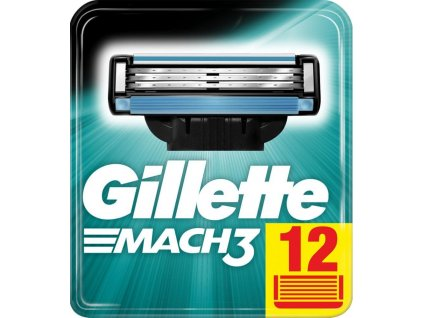 GILLETTE MACH3 náhradní pánské žiletky hlavice (12 ks v balení)  ® ⚡️- DOVOZ Z USA ✅✅✅
