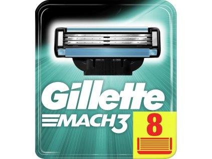 GILLETTE MACH3 náhradní pánské žiletky hlavice 8 ks  ® ⚡️- DOVOZ Z USA ✅✅✅