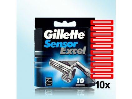 Gillette Sensor Excel náhradní hlavice, žiletky 10ks  ® ⚡️- DOVOZ Z USA ✅✅✅