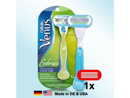 Gillette Venus Embrace strojek + 1 hlavice