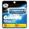 GILLETTE MACH3 TURBO náhradní pánské žiletky hlavice (10 ks v balení)