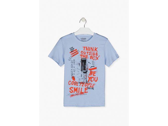 Chlapecké tričko s potiskem krátký rukáv (různé barvy)