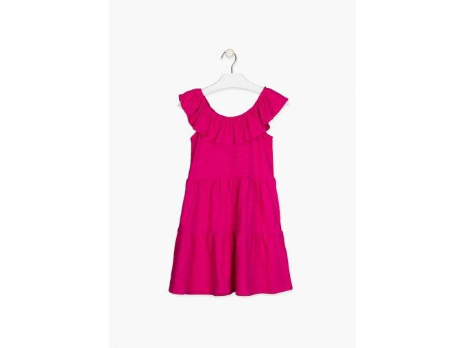 Dívčí letní bavlněné šaty s kanýrem