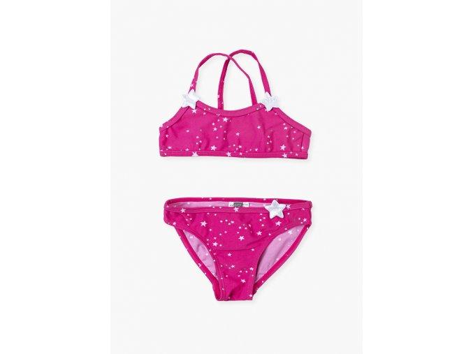 Dívčí dvoudílné plavky s hvězdičkami (ve dvou barevných variantách)