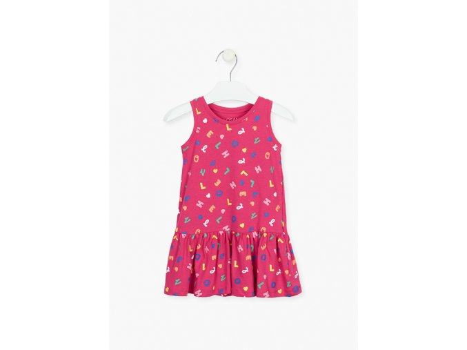 Dívčí bavlněné šaty s potiskem písmenek