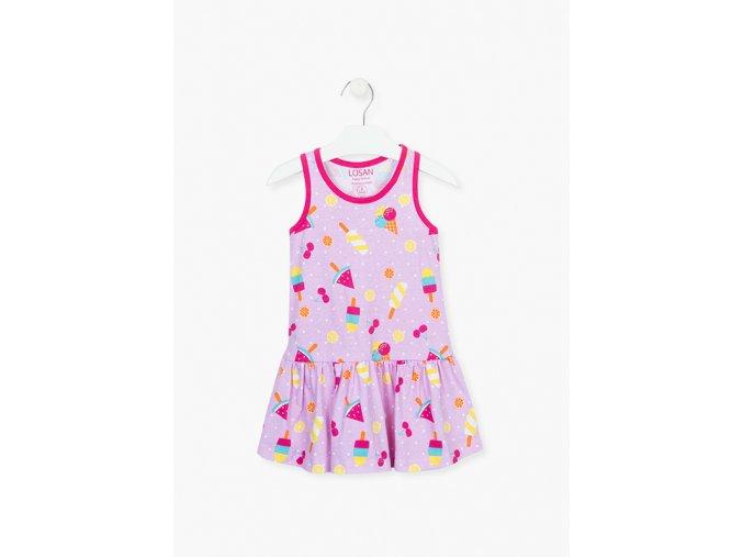 Dívčí letní šaty bez rukávů (pouze v limetkové variantě)