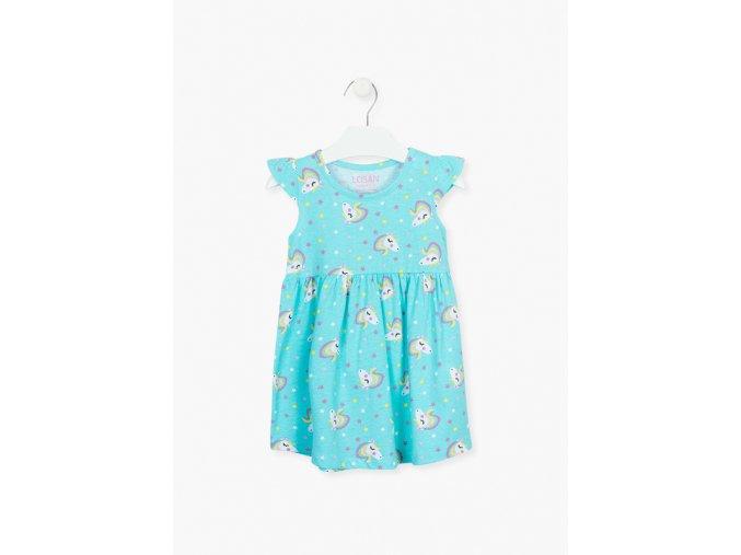 Dívčí šaty s potiskem jednorožců (pouze v růžové variantě)
