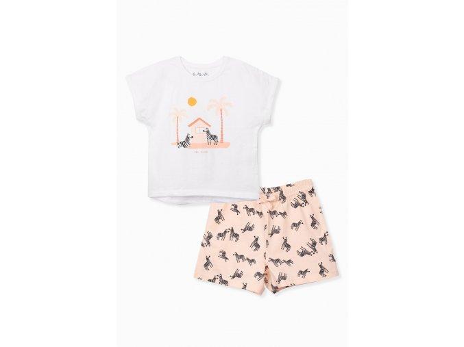 Dívčí pyžamo krátký rukáv Zebry