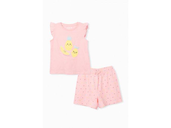 Dívčí pyžamo krátký rukáv Ovoce