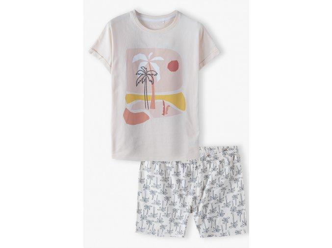 Dívčí pyžamo krátký rukáv Palmy