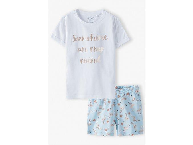 Dívčí pyžamo krátký rukáv Sunshine