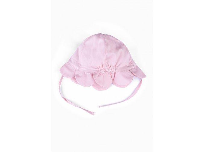 Kojenecký růžový klobouček na zavázání