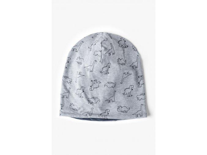 Dětská bavlněná čepice Dino