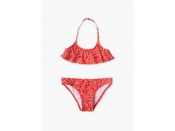 Dívčí plavky dvoudílné (Barva Červená, Velikost 134/140)