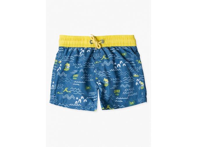 Chlapecké plavky s potiskem (Barva Modrá, Velikost 92)